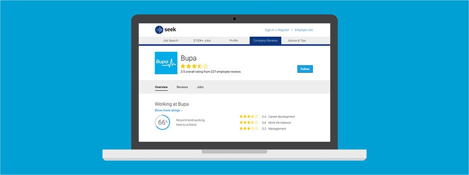 How Company Reviews has bolstered Bupa's employer brand